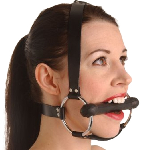 Locking Silicone Trainer Gag Trense Knebel Petplay von Strict Leather